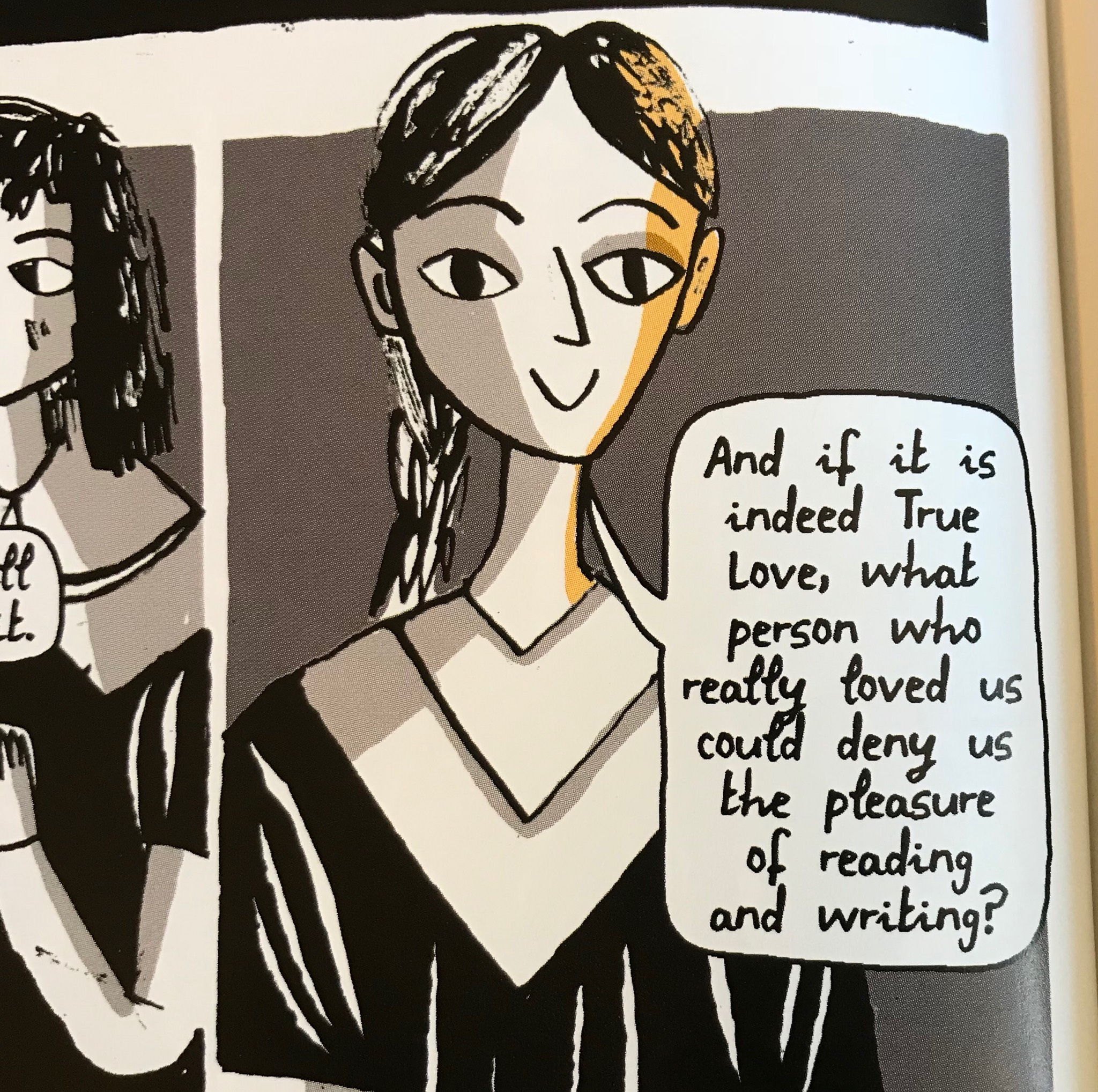 Panel from  The One Hundred Nights of Hero  by Isabel Greenberg