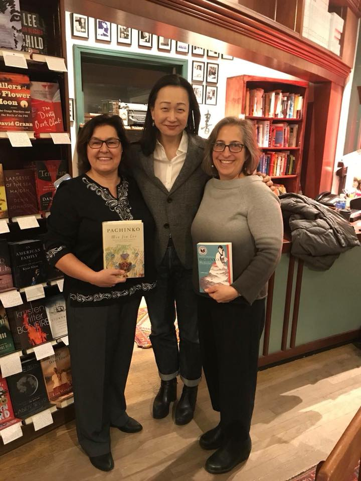 Chris and Emily with Min Jin Lee, author of  Pachinko .