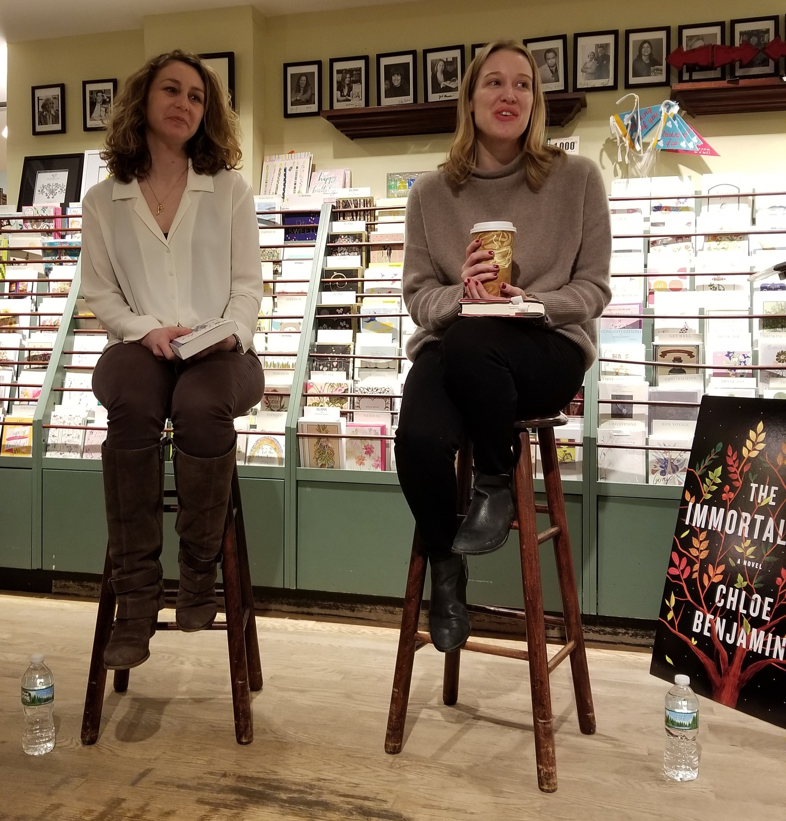 Chloe Benjamin author of  The Immortalists  and Jill Santopolo author of  The Light We Lost   in conversation at  RJ Julia Booksellers  in Madison, CT.