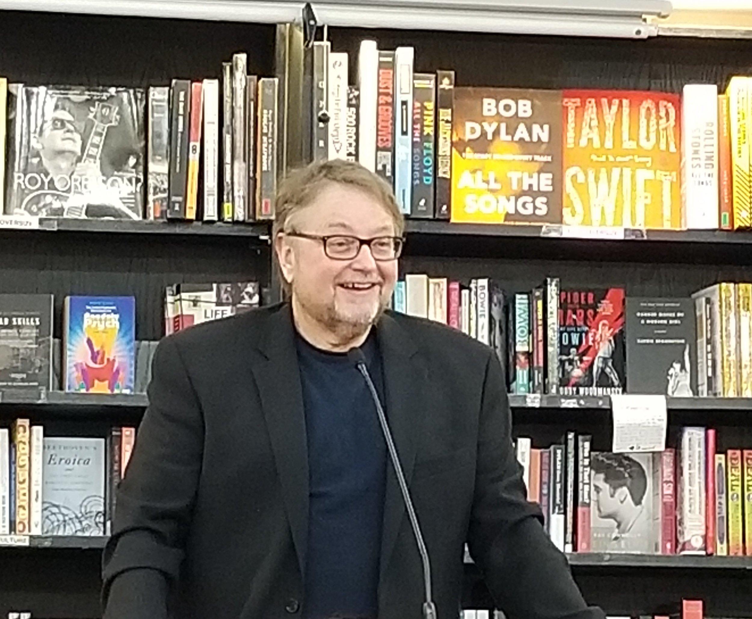 Luis Alberto Urrea discussing his book  The House of Broken Angels at  Bookshop Santa Cruz .
