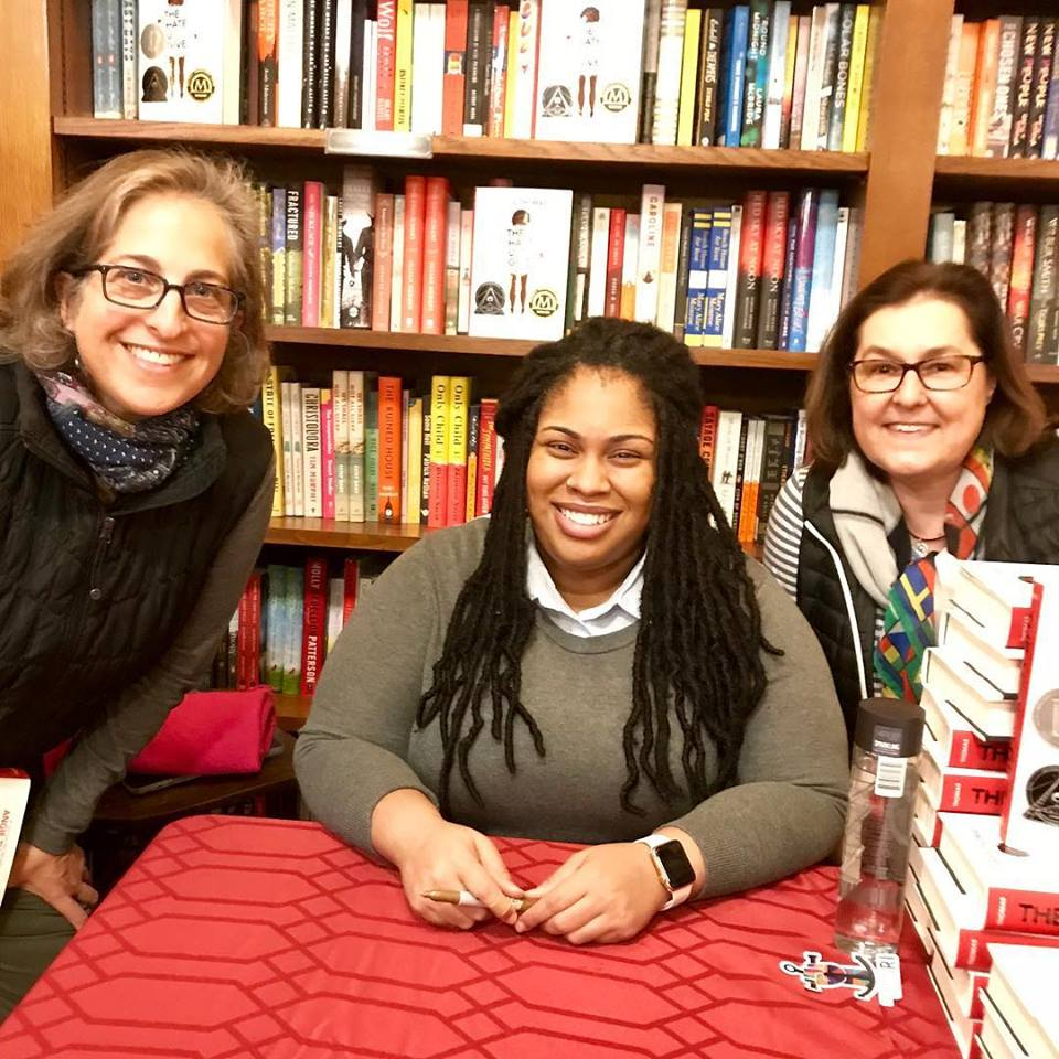 - Chris and Emily went on a joint jaunt to Savoy Bookshop and Cafe for the Reading Across Road Island sponsored event with Angie Thomas and her book The Hate U Give.