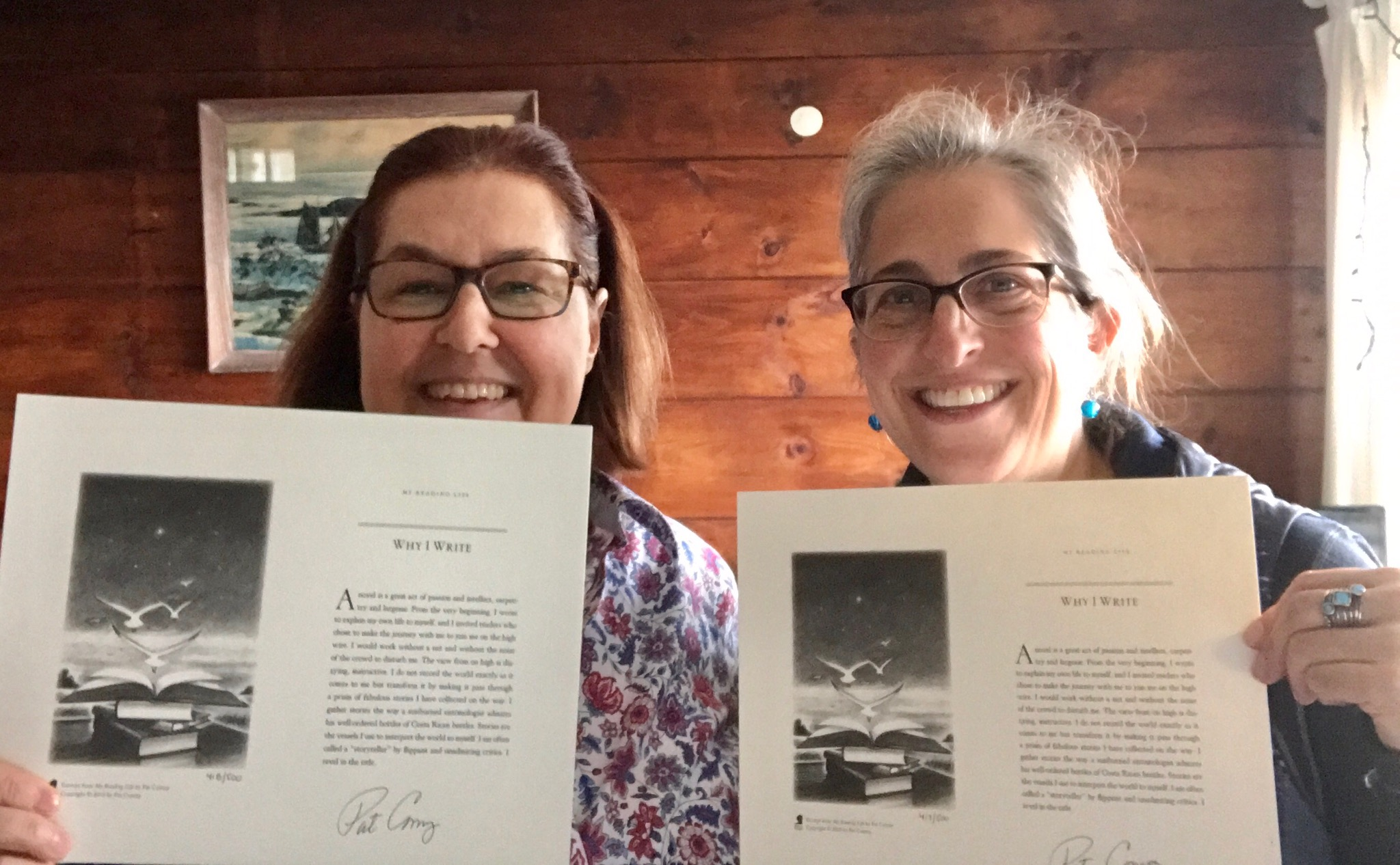 We received these wonderful prints signed by Pat Conroy from our friend, Ann Kingman.