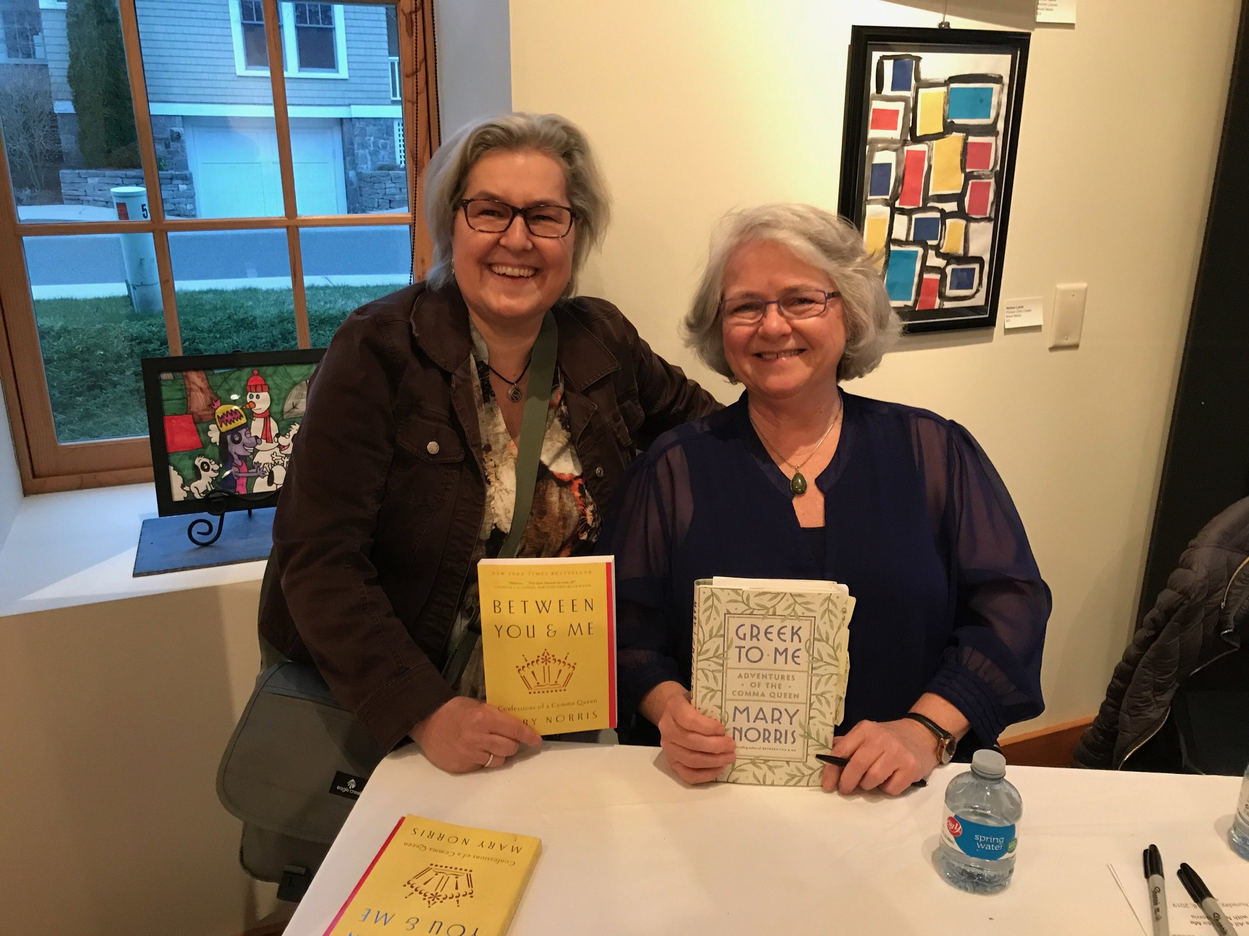 Chris attended an event co-sponsored by  Bank Square Books  and the  Lagrua Center  where Mary Norris discussed her new book  Greek to Me: Adventures of the Comma Queen .