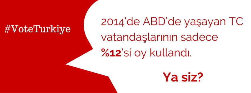 Translation: In 2014, only 12% of Turks in the U.S. voted. Did you?