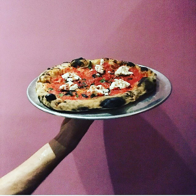 Tonight's special @fioredicapra goat cheese, fresh oregano, marinara and red wine vin reduction  #pizzalife #naturallyleavened #woodfiredpizza #downtowntucson #scrummy #eatlocal