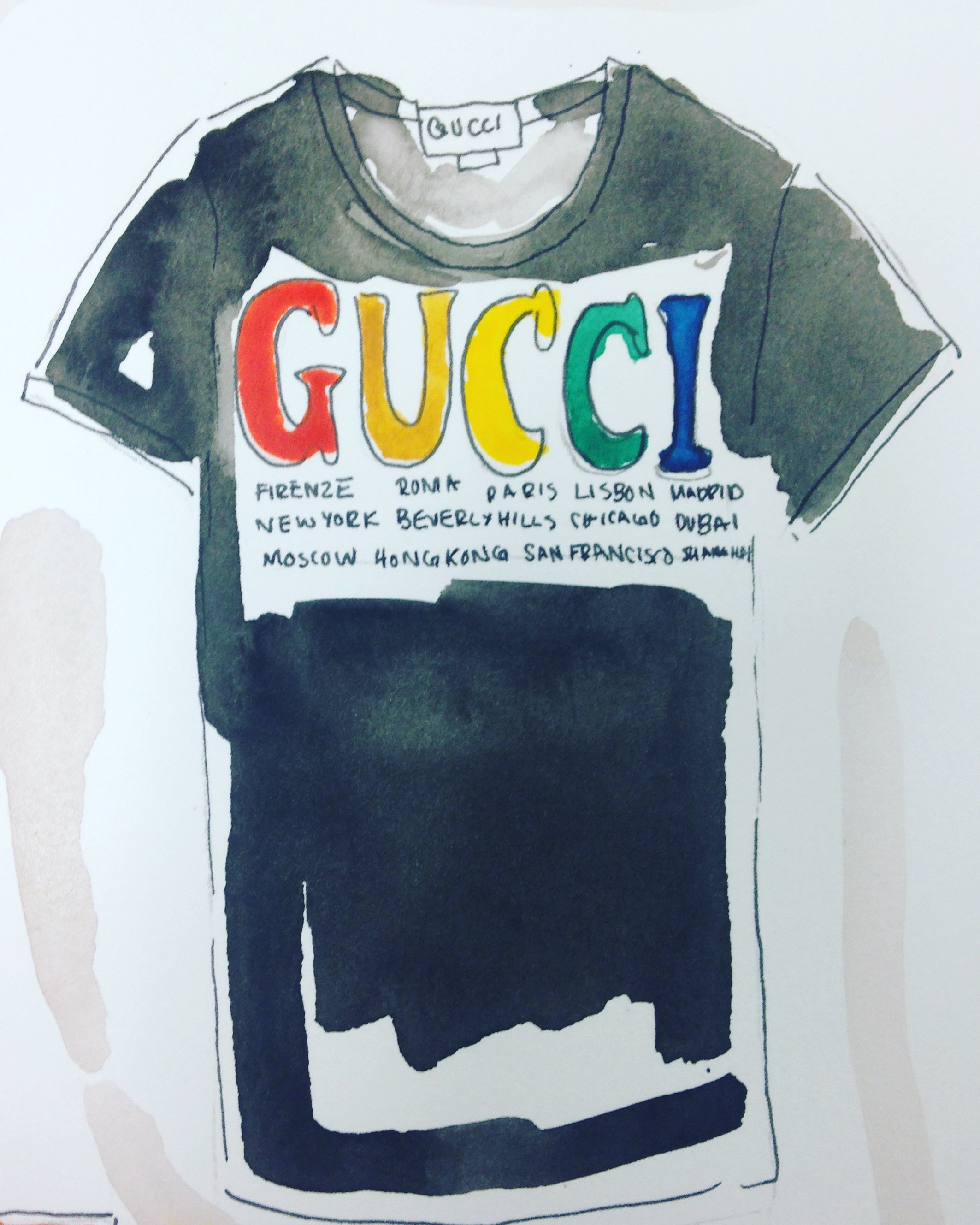 Gucci Cities cotton t-shirt available  here .
