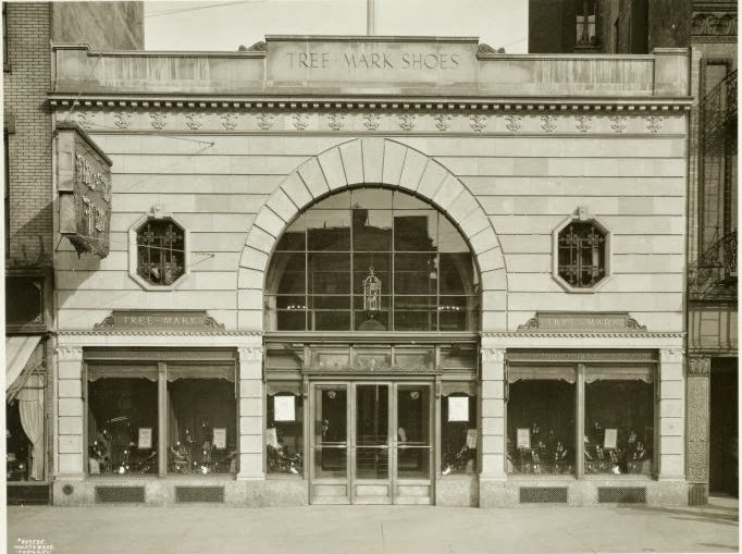 The Bowery Ballroom on Delancy Street, formerly a shoe store in the 1930s.