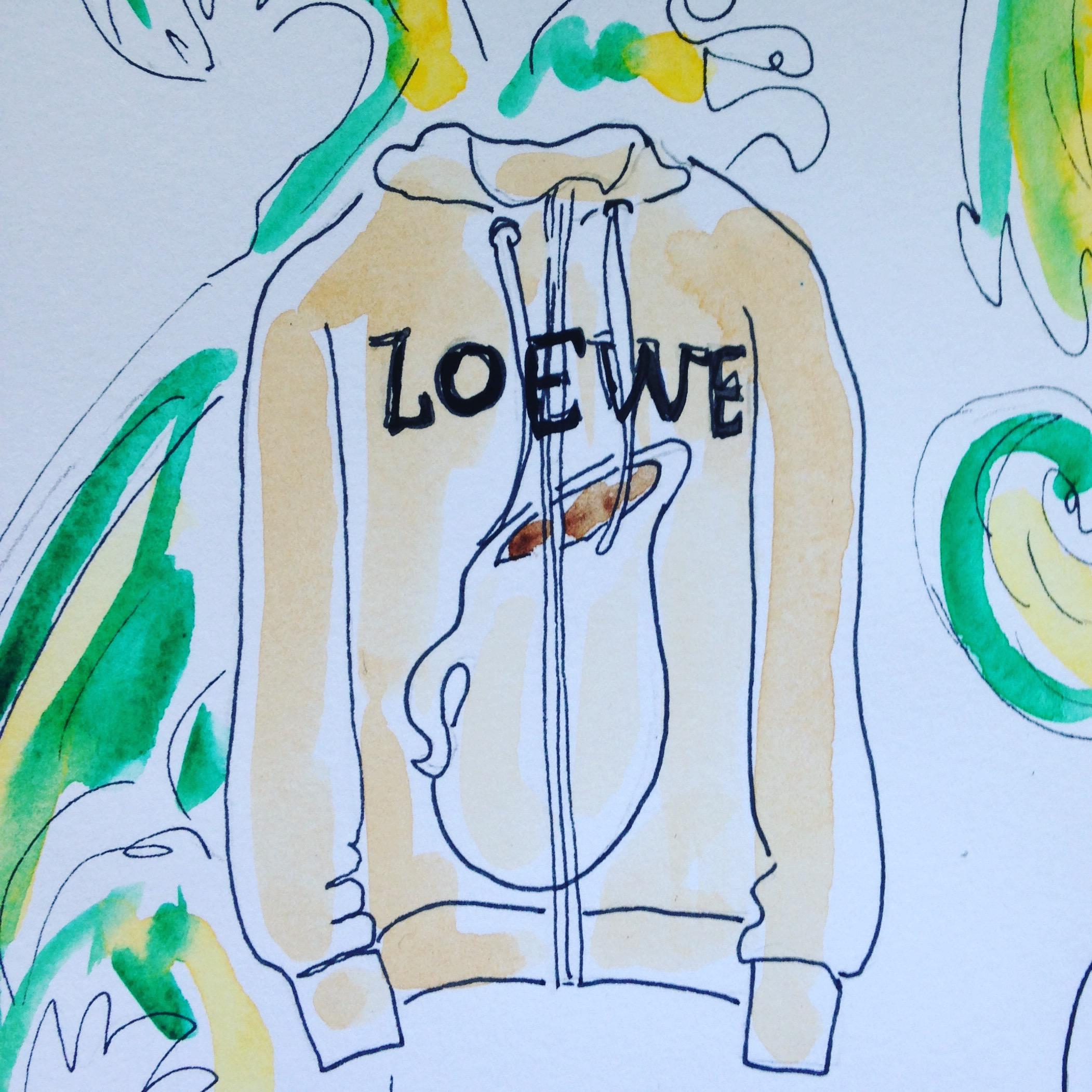 Loewe hoodie inspired by Francisco de Zurbarán's Still Life with Vessels at Prado Madrid.