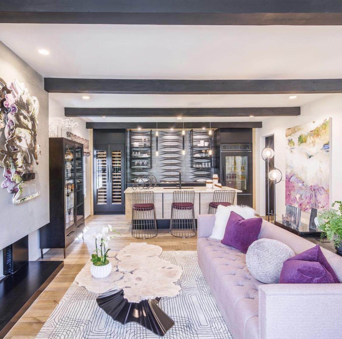 Purple please! Photo courtesy of L2 Interiors.