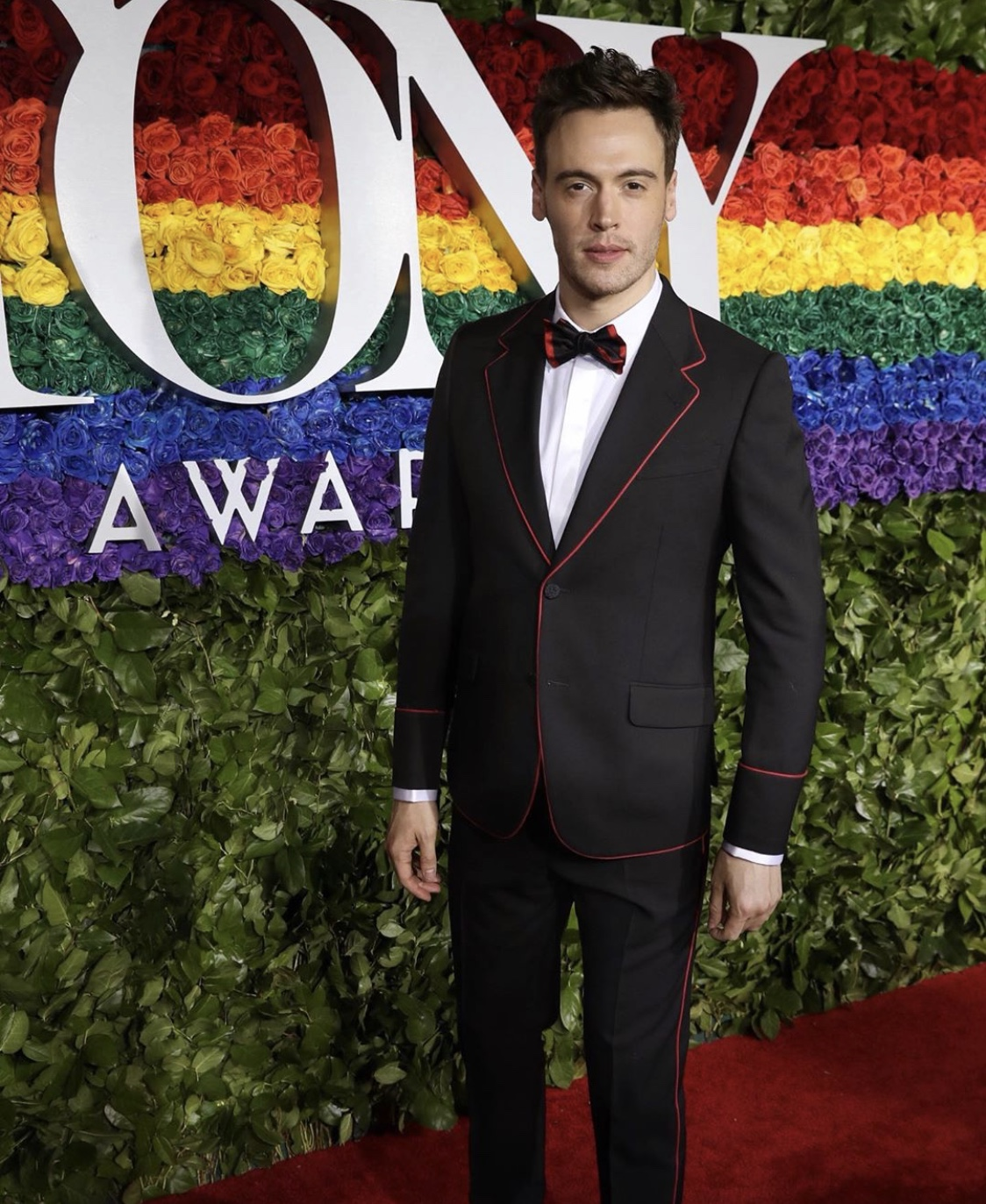 Erich Bergen wearing Gucci at the Tony Awards.