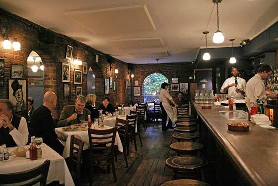Joe Allen New York Restaurant.