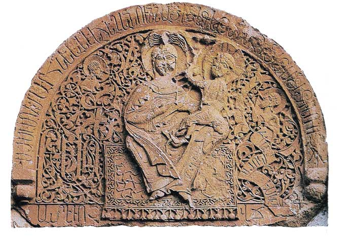 Tympanum sculpture, Monastery of Noravank, at Amaghu, 1321
