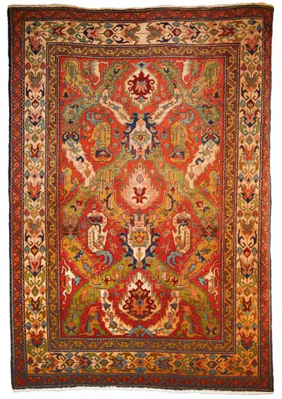 "Armenian dragon rug, circa 1920, 4'8"" x 6'10"""