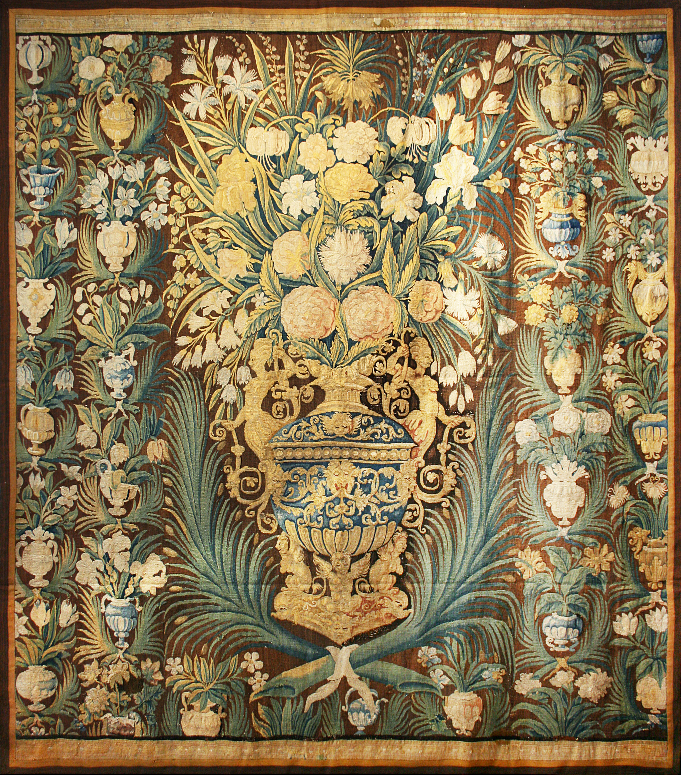 529 Oudenaarde Tapestry, Flanders, circa 1650, 7'6''x8'6''