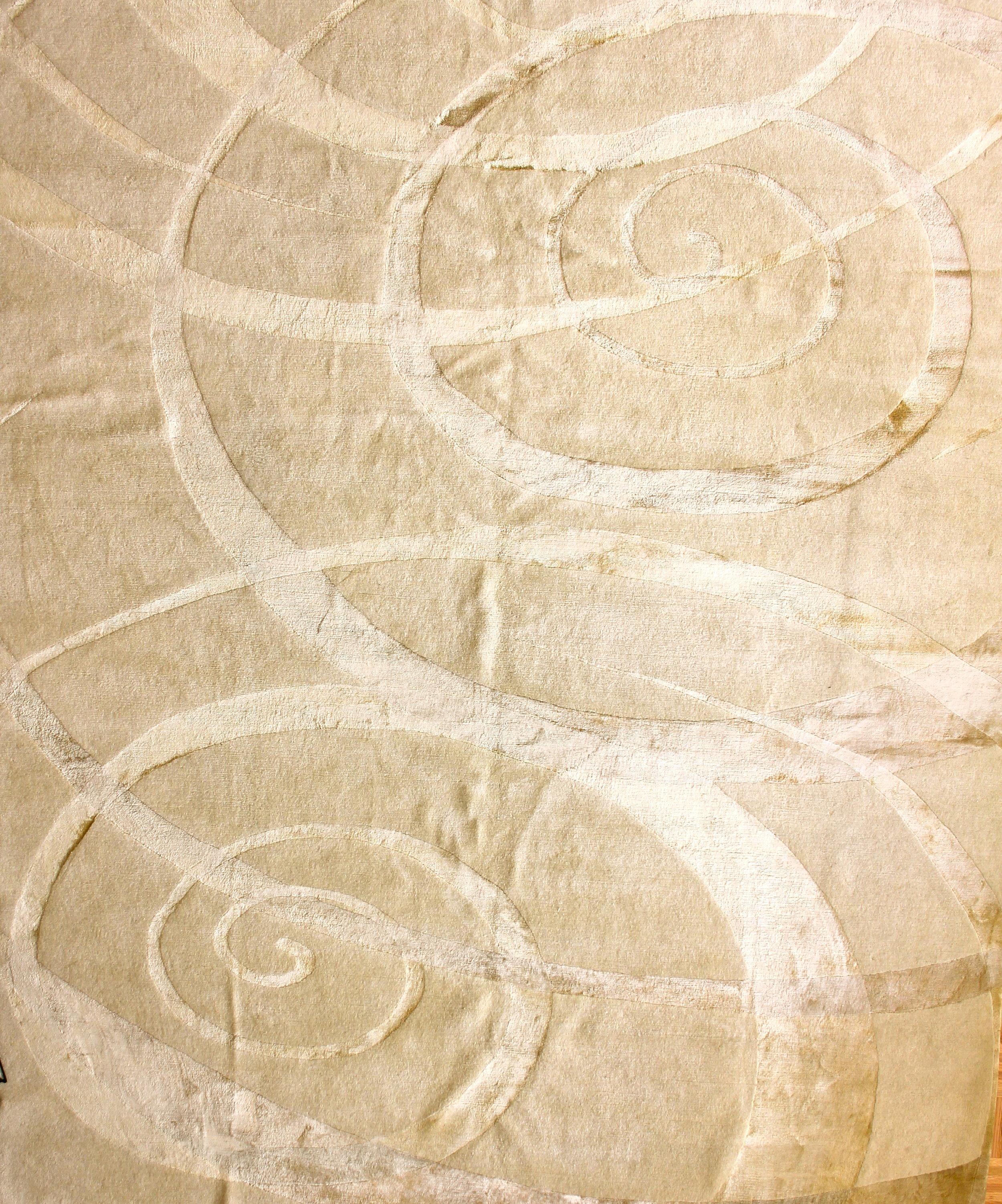 275 Swirls, Silk Mountain Wool, woven in Nepal, 8'x10'