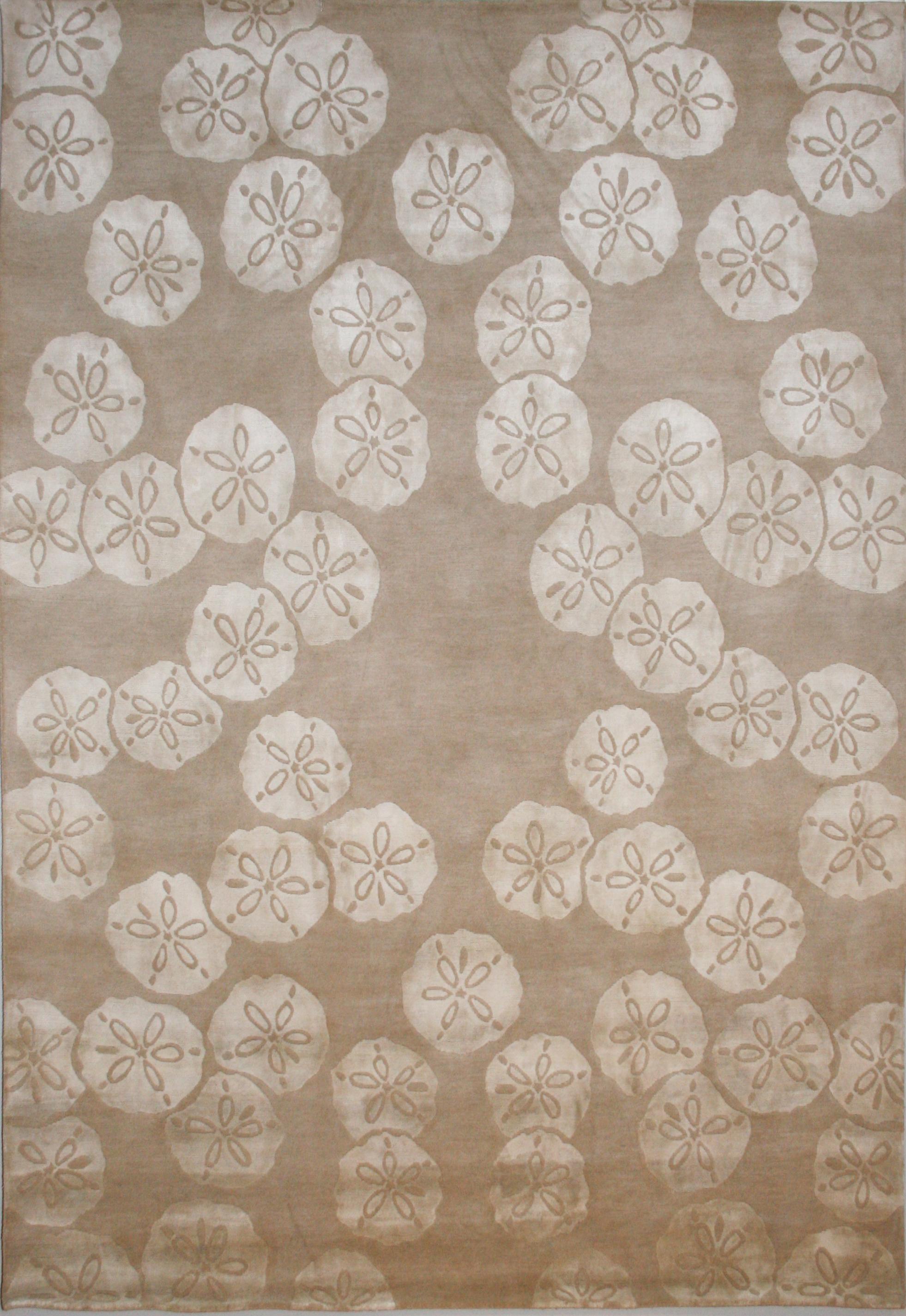 776 Sand Dollar, Wool and Silk, Nepal, 6'x9'