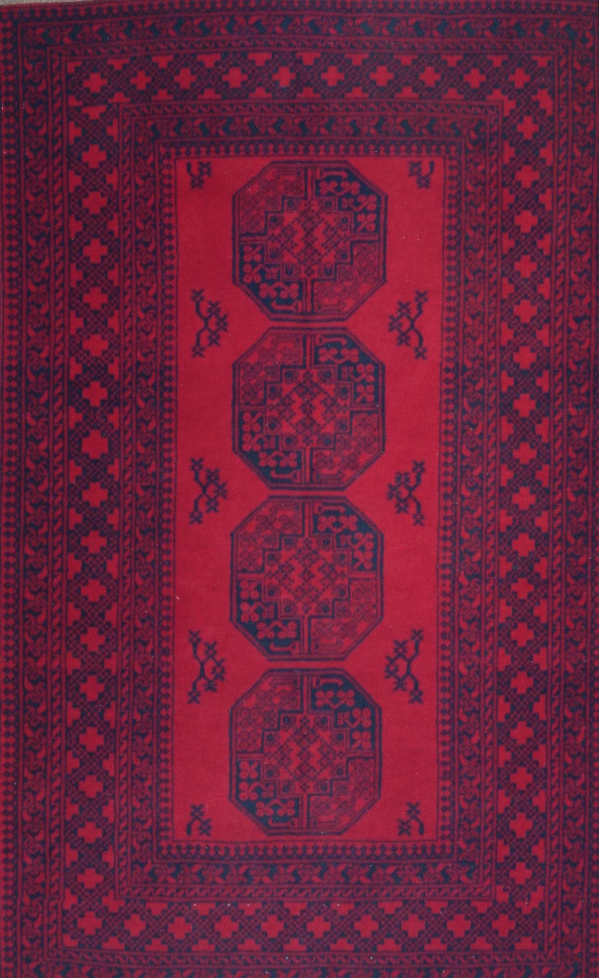 79 Turkoman Bokhara, Afghanistan, circa 1980, 3'7''x6'