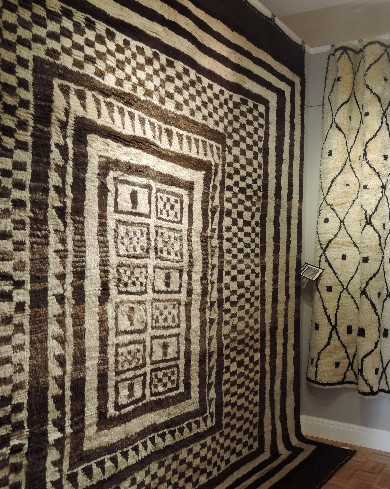 Striking and richly textured casual designs from nomadic weaving cultures have a central place in Art to Walk On's collection