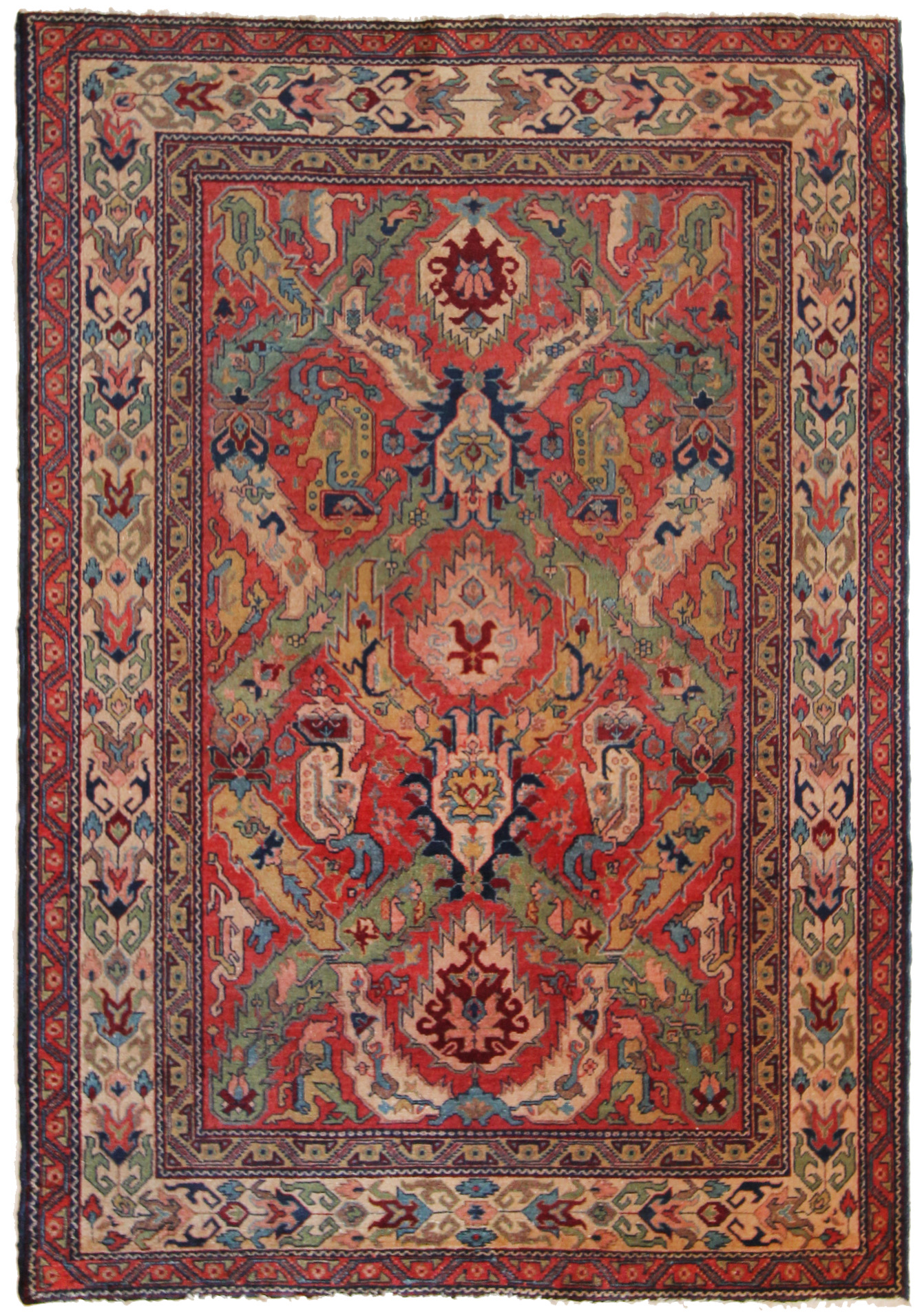178 Armenian Dragon Rug, circa 1920, 4'8''x6'10''