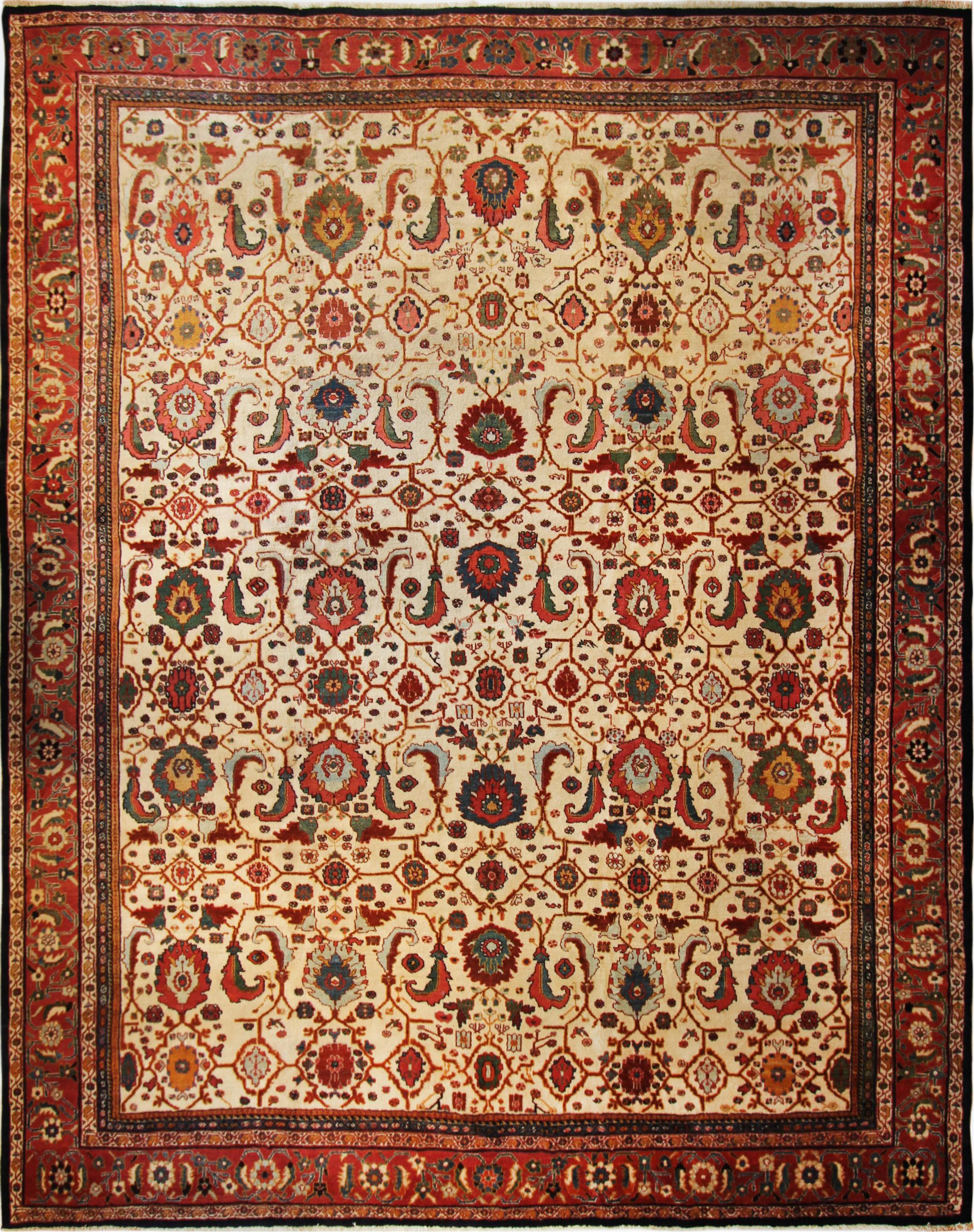 500 Persian Mahal, circa 1890, 12'x15'