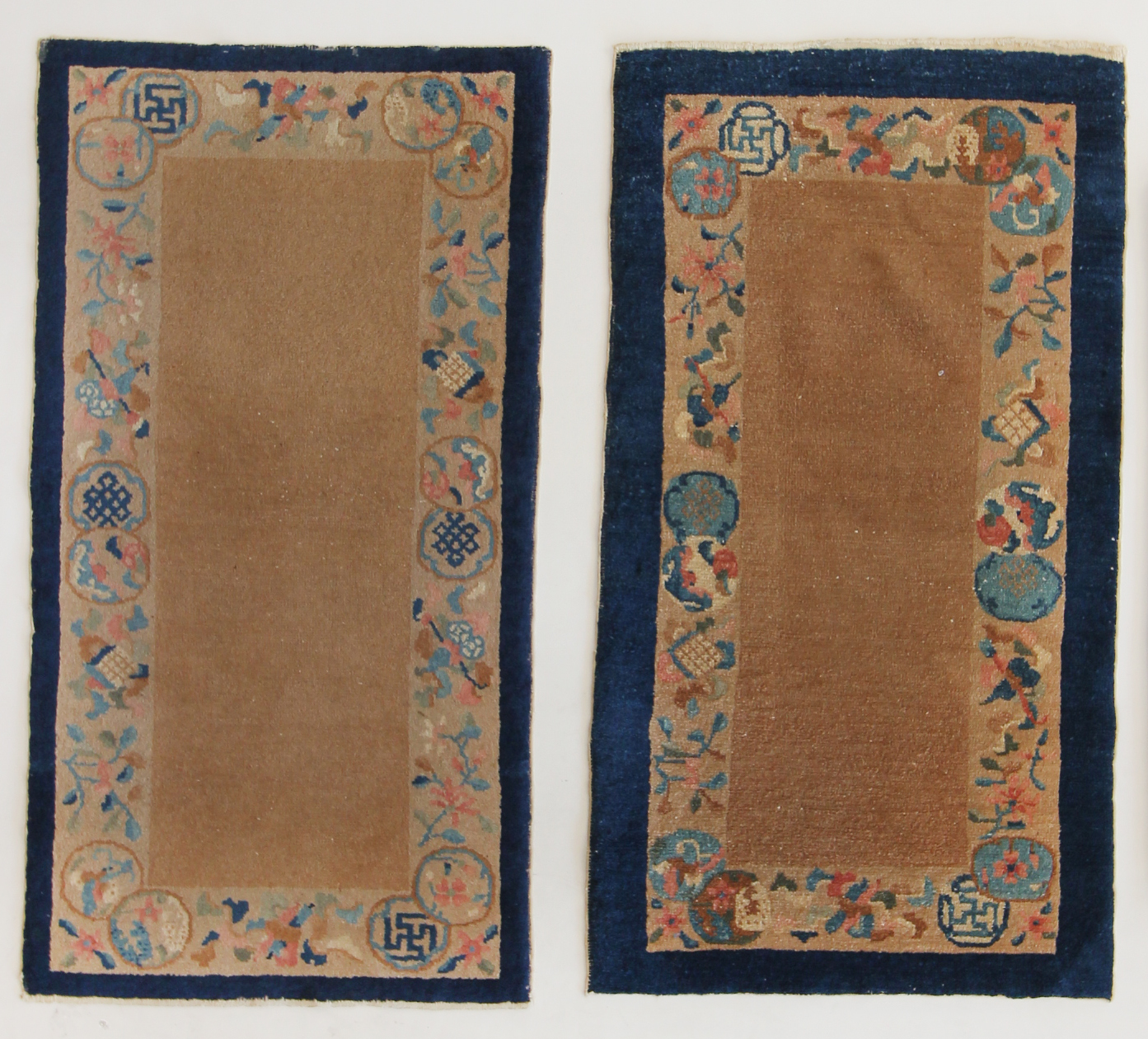 229 Pair of Chinese Mats, circa 1920, 2'1''x4'