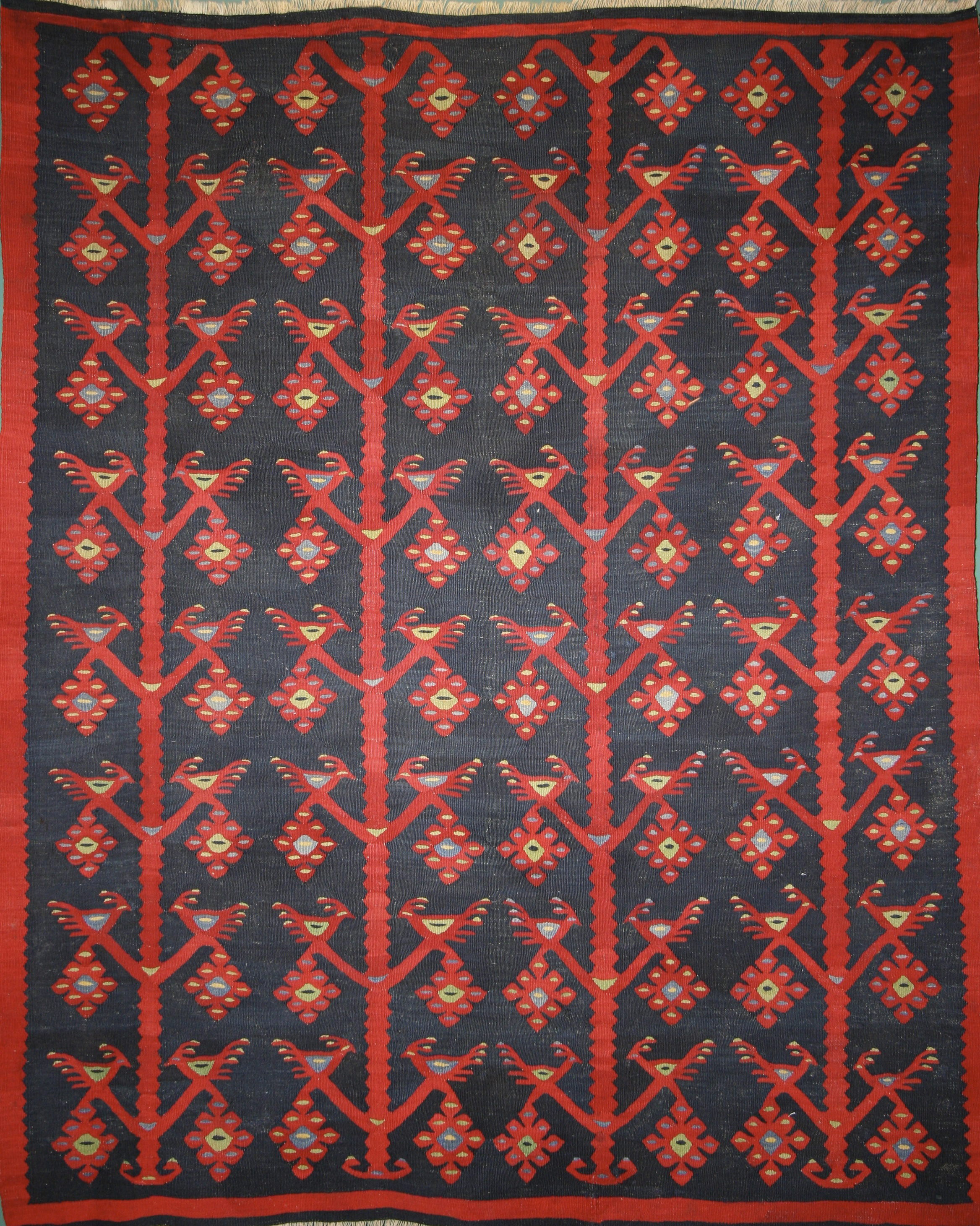 355 Antique Sarkay Kilim, Turkey, circa 1900, 3'11''x4'11