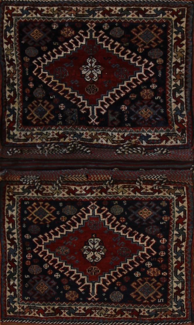 """552 Qashgai Tribal Saddle Bag 2'4""""x3'8"""""""