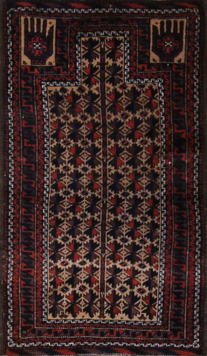 "550 Belouch Prayer Rug 2'5""x4'1"""