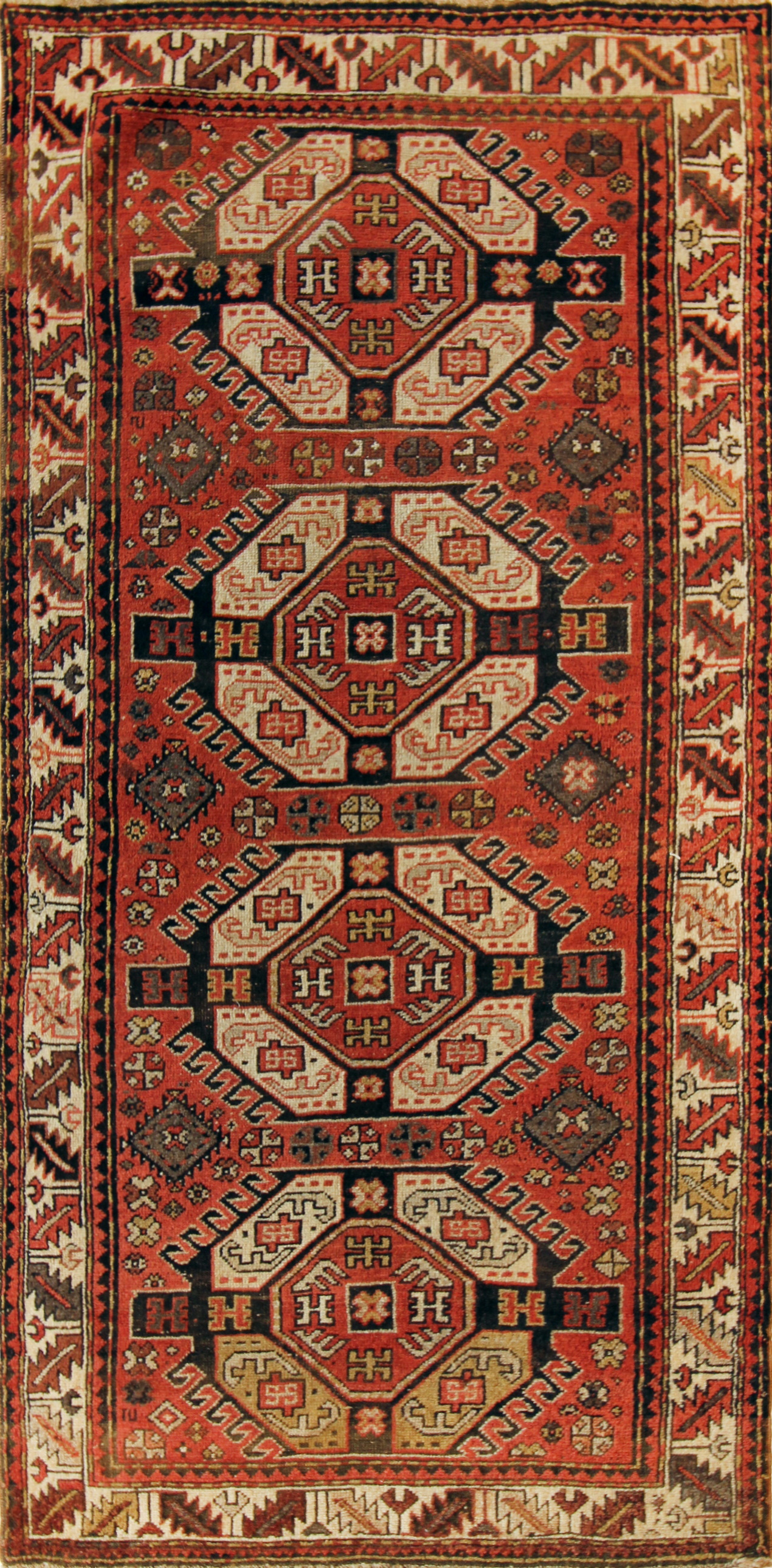 217 Armenian Kazak, 4'x8'6''