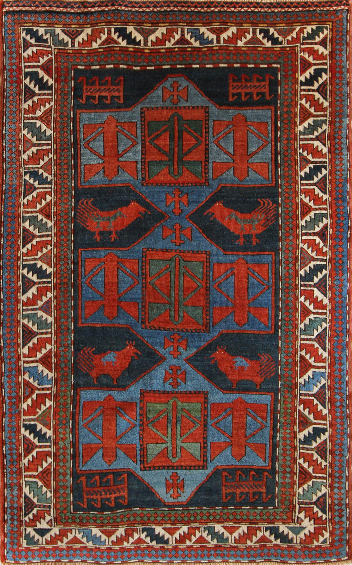 69 Armenian Kazak, circa 1880, 4'6''x7'3''