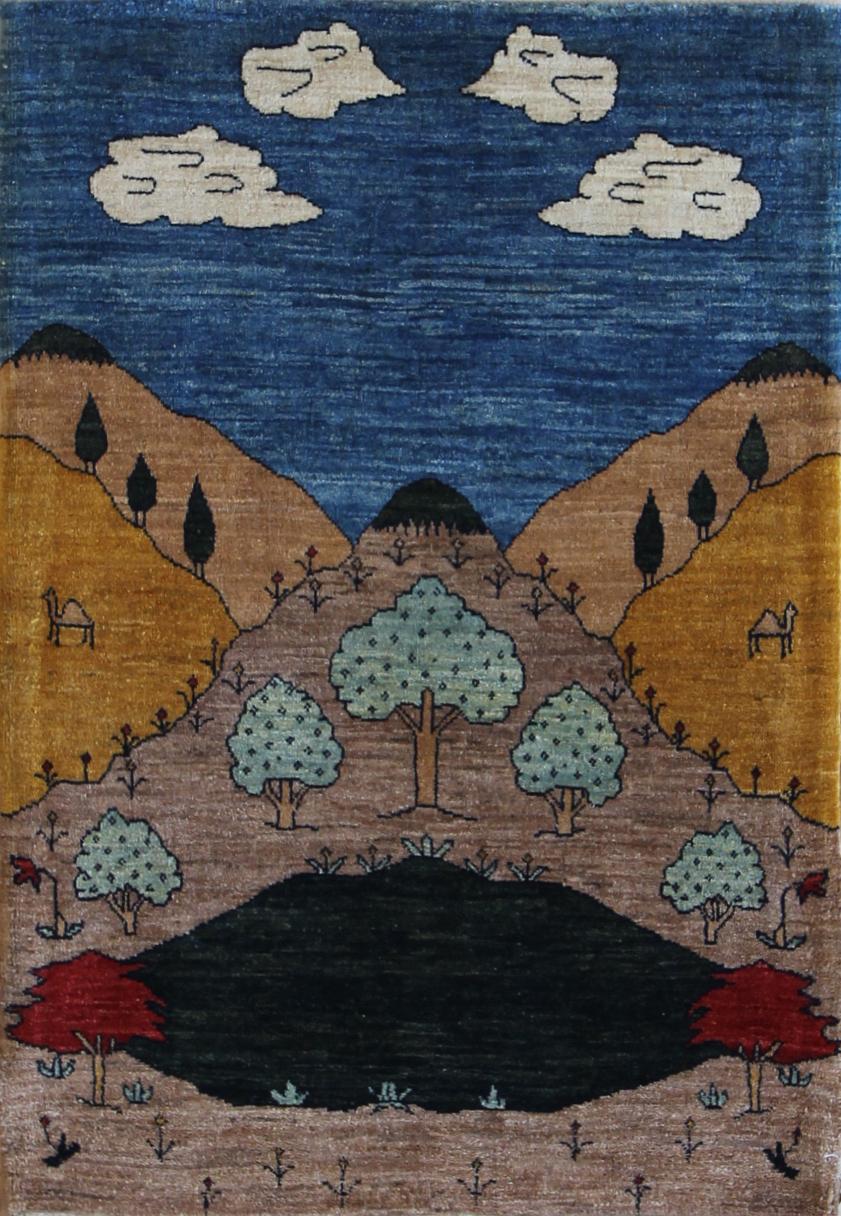 "896 Kashkuli landscape 2'9""x4'1"""