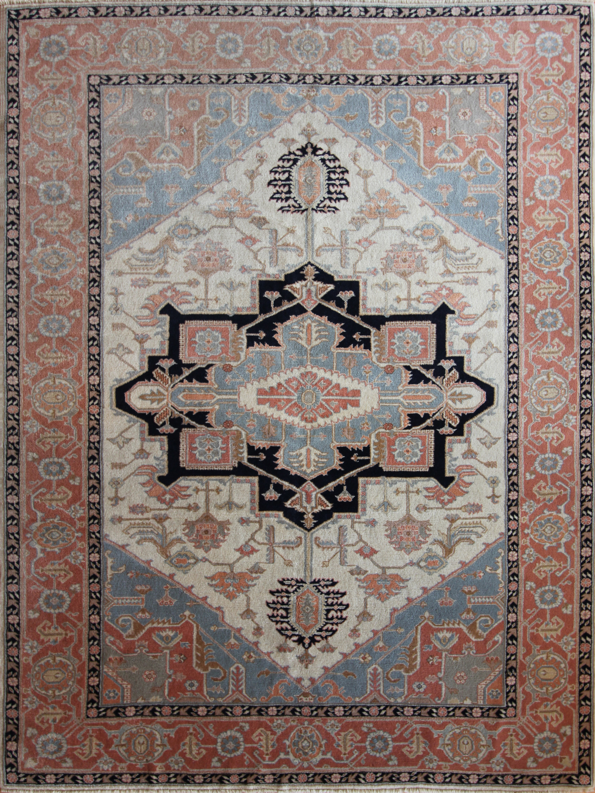537 Oushak, Turkey, circa 1970, 9'x12'