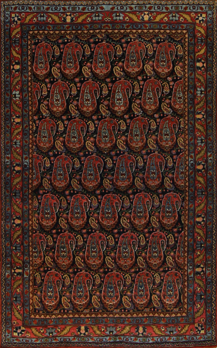 "876 Persian Afshar 1920 4'5""x7'5"""