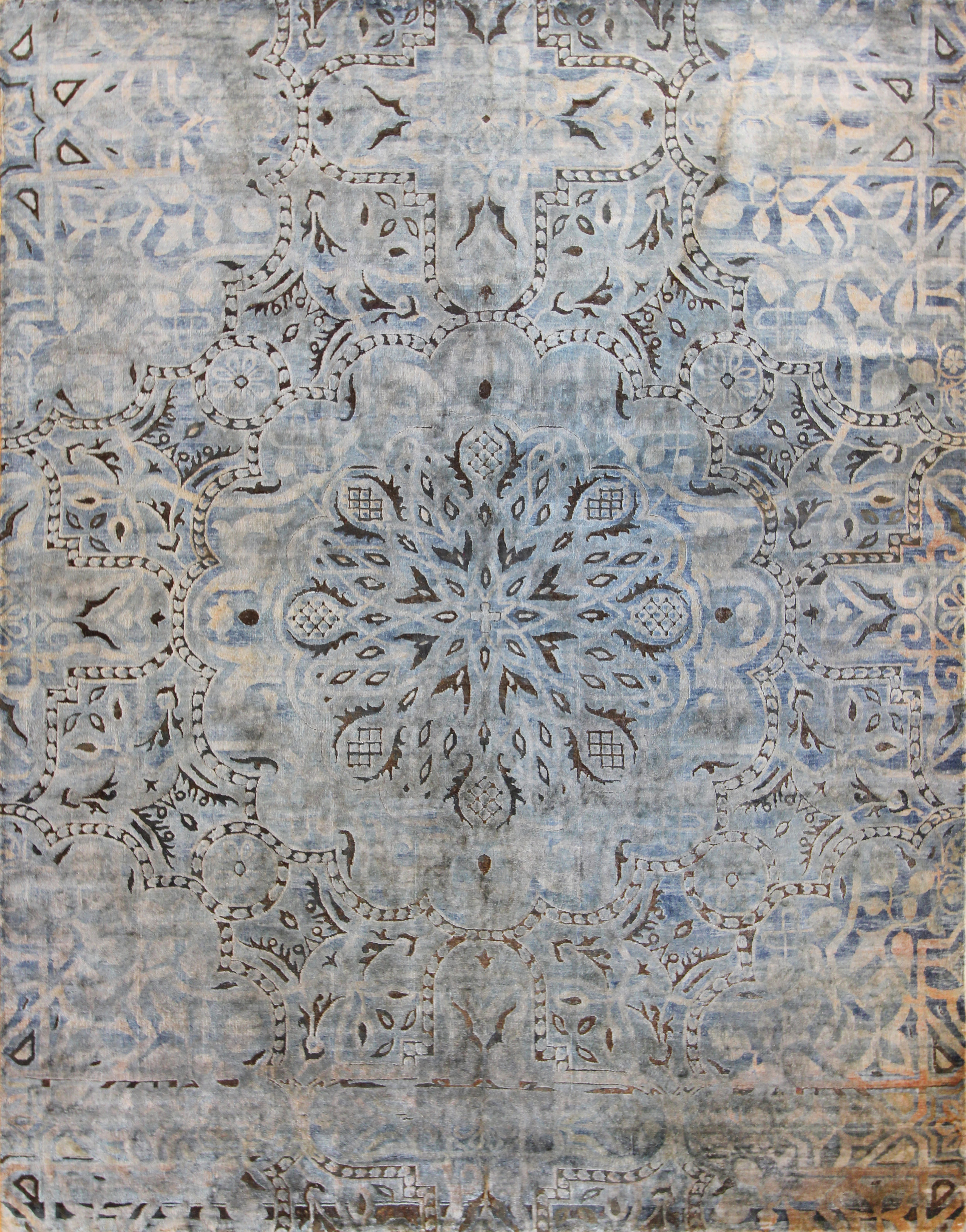 "948 Silk oxidized wool Jaipur 7'10""x10'2"""