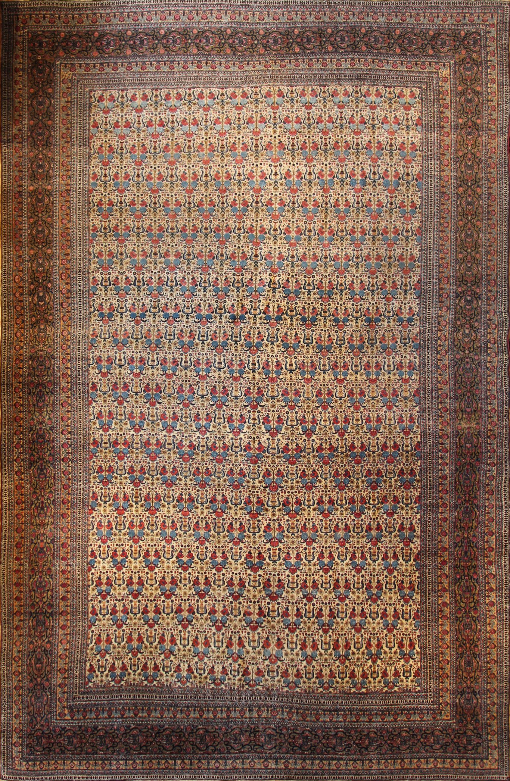 """CC20 Rare Antique Teheran, Persia, c1880 11'6""""x17'"""