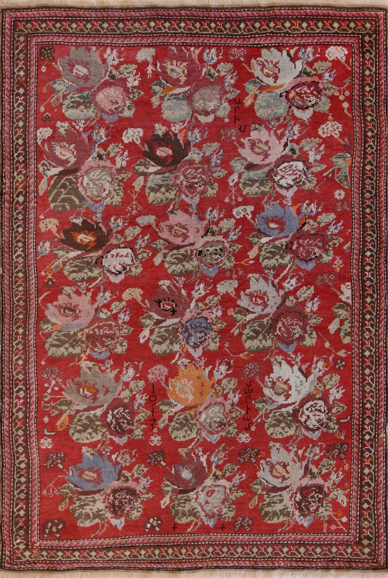 """828 Armenian Rose 1913 4'4""""x6'5"""""""