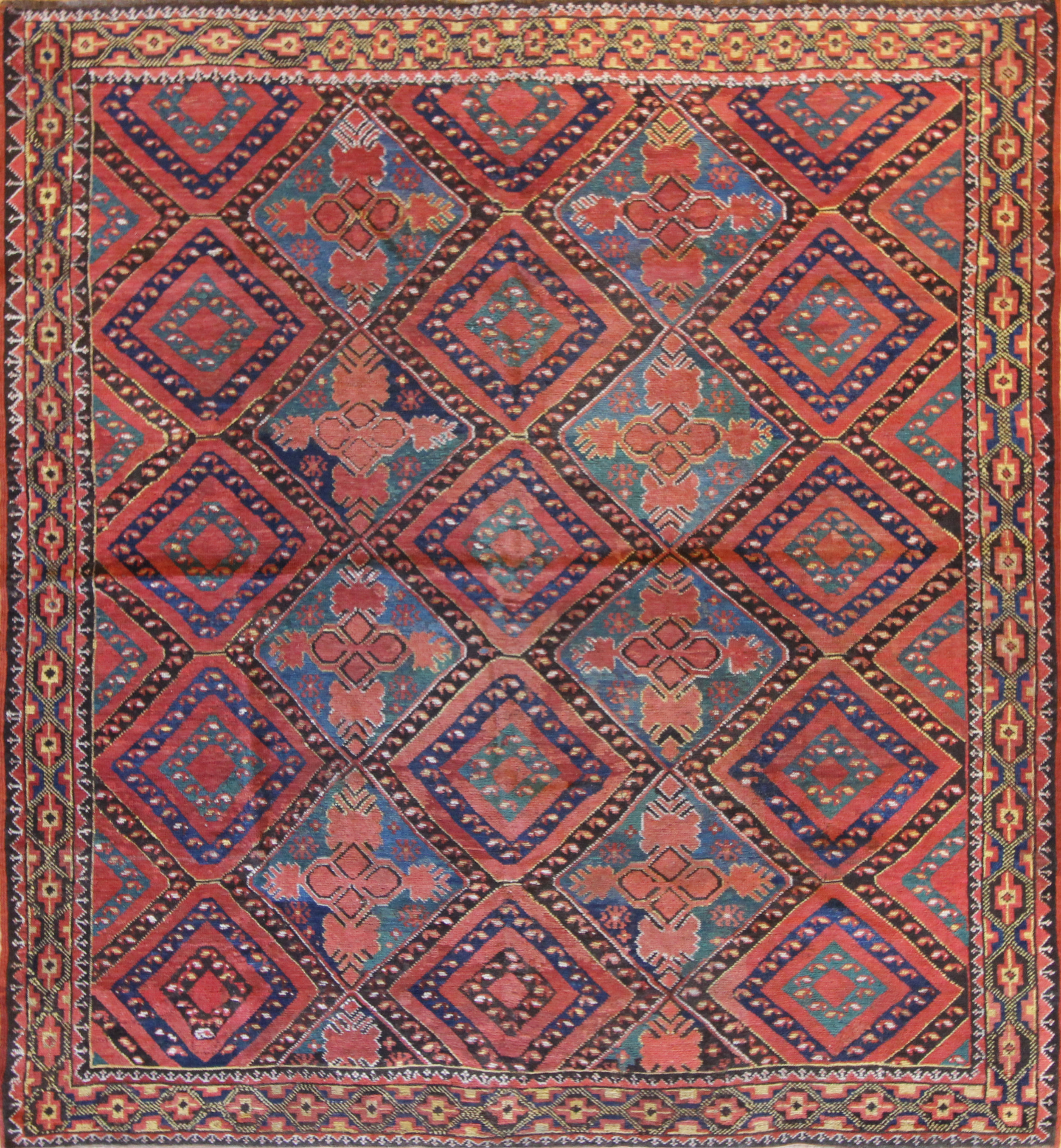 """CC25 Ersari Uzbekistan c1880 6'8""""x6'2"""""""