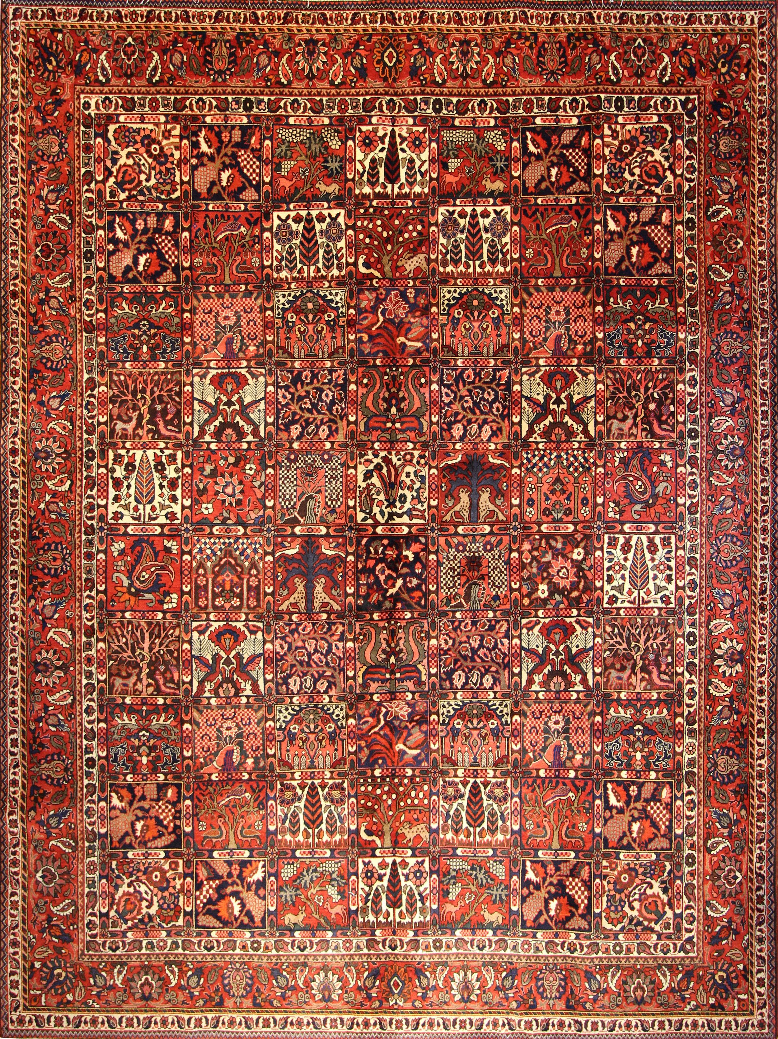 """972 Bakhtiari, Persian, 8'7"""" x 11'9"""""""