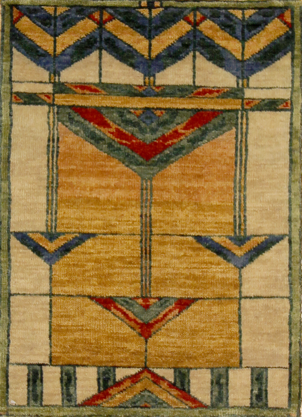 920 Arts and Crafts Sample, India, 2' x 2'11""