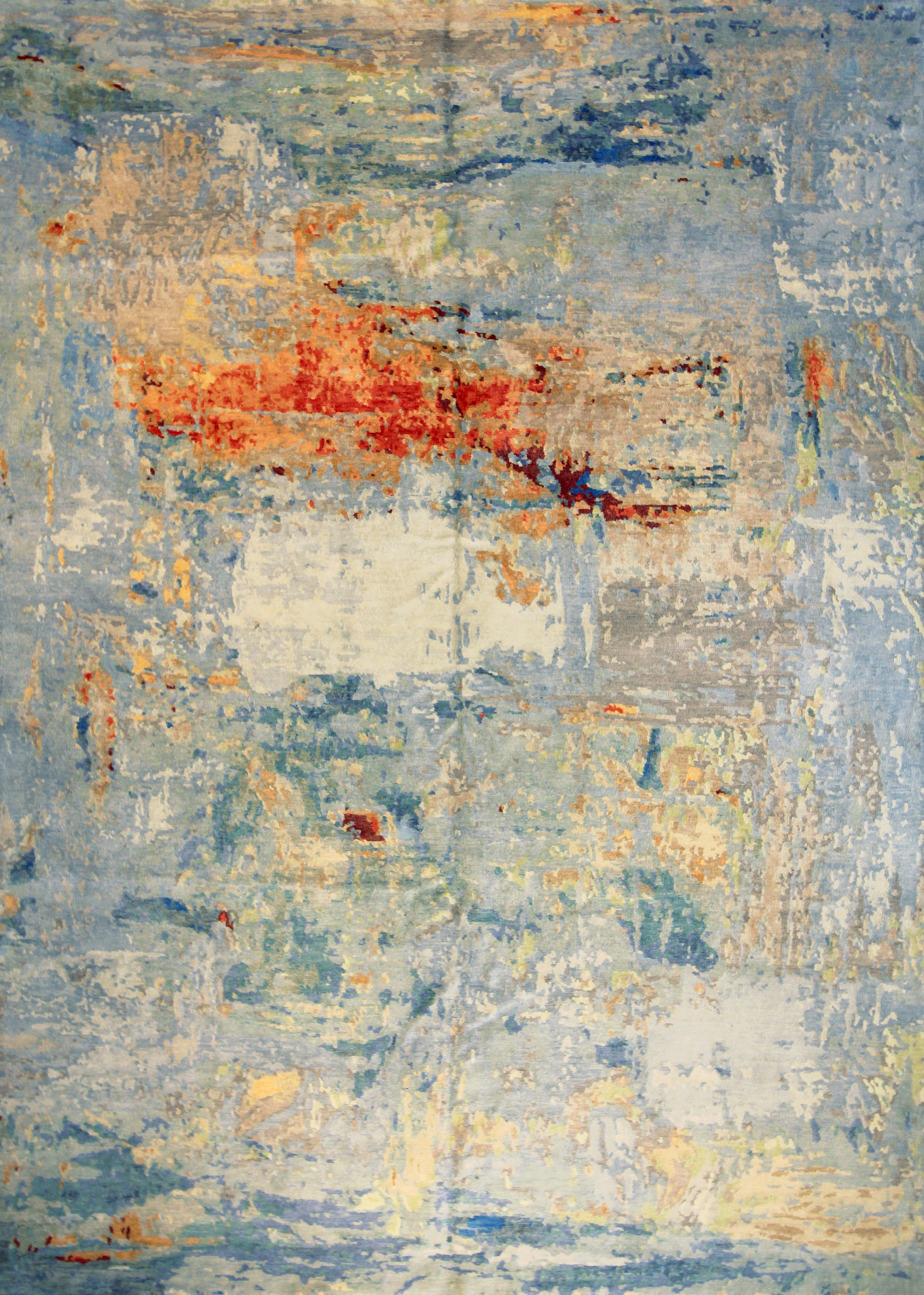 975 Harlem Multi, 7'x10', Wool and Silk, Nepal