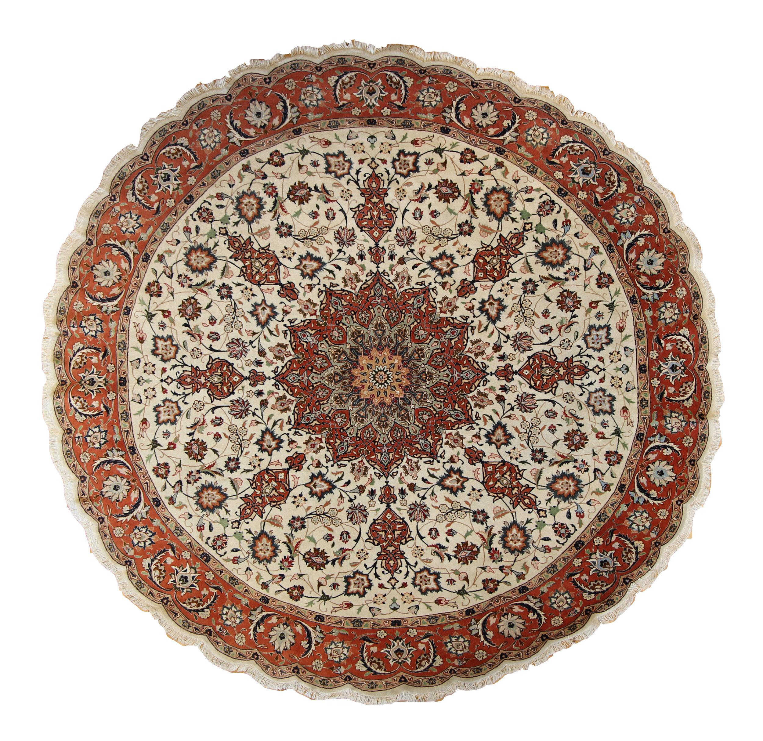 CC27 Tabriz, Persian, 7' round