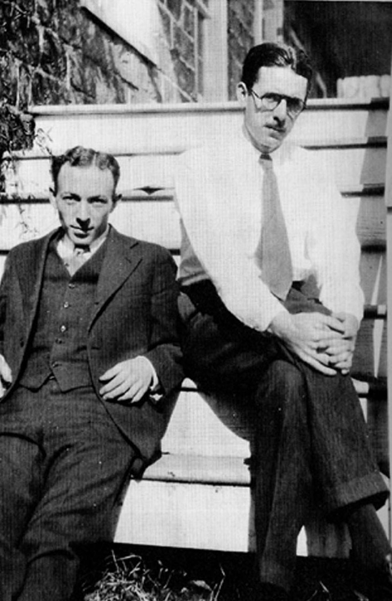 Thurber (on right) and White