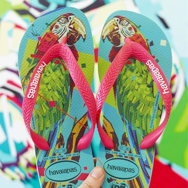 Arlin_Graff X Havaianas X IPE  This is my new collaboration with @havaianas, featuring Brazilian animals at risk due to deforestation. Proceeds go to support @institutoipe to help conserve Brazilian diversity.  More on this collaboration coming soon! Available at havaianas.com