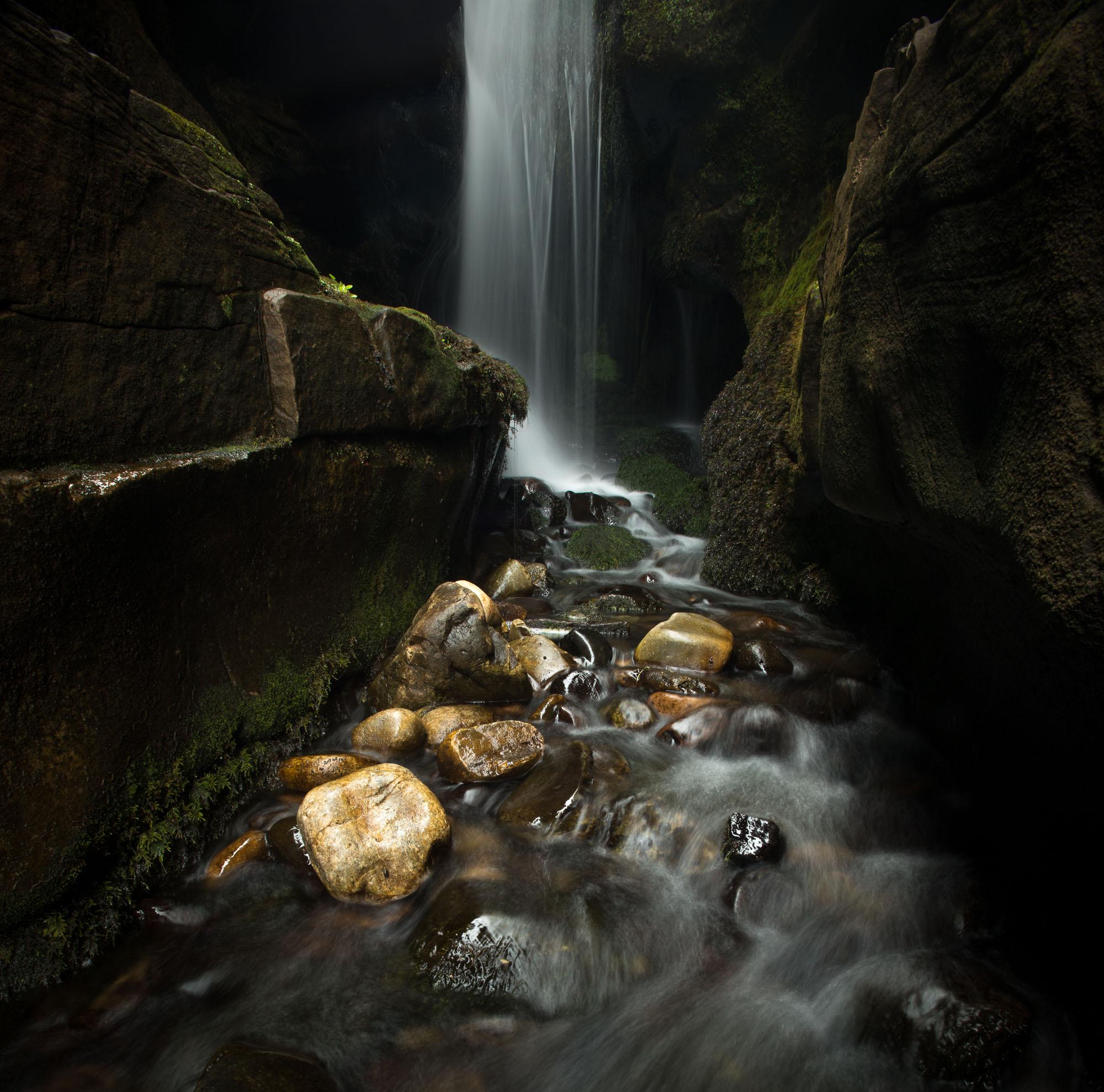 Egg beach waterfall