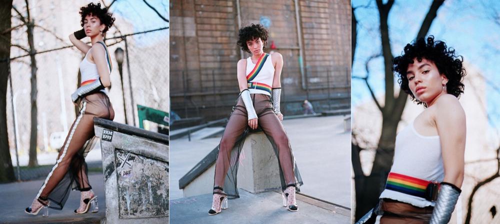 full look by Keiko Koakutsu, Qupid shoes, Hello Kitty belt  model: @officialgemparker  photographer: Bobby Banks @bobbyybanks