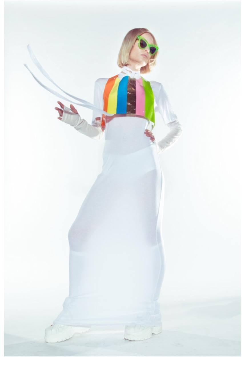 Francesca Longo dress, Adam Dalton Blake crop top, Coco & Breezy sunglasses, Buffalo shoes