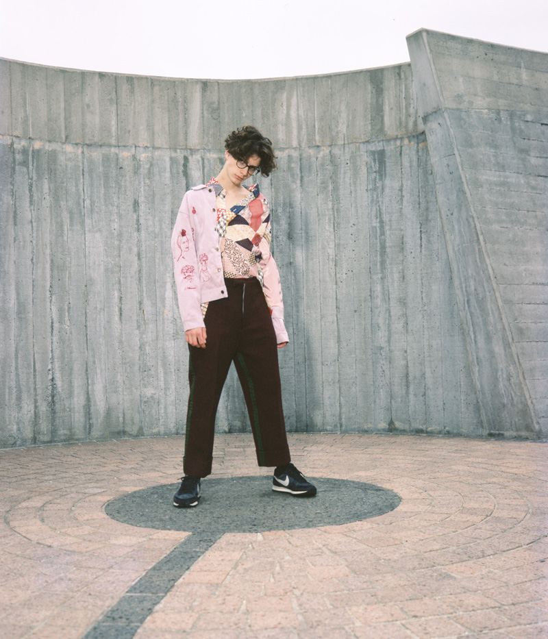 Top by Bode  Pants by William Ryan Stautberg  Shoes by Nike