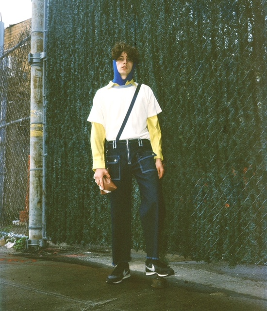 Turtle neck and denim by Ruojing Wang  Sweater and shirt by Bode