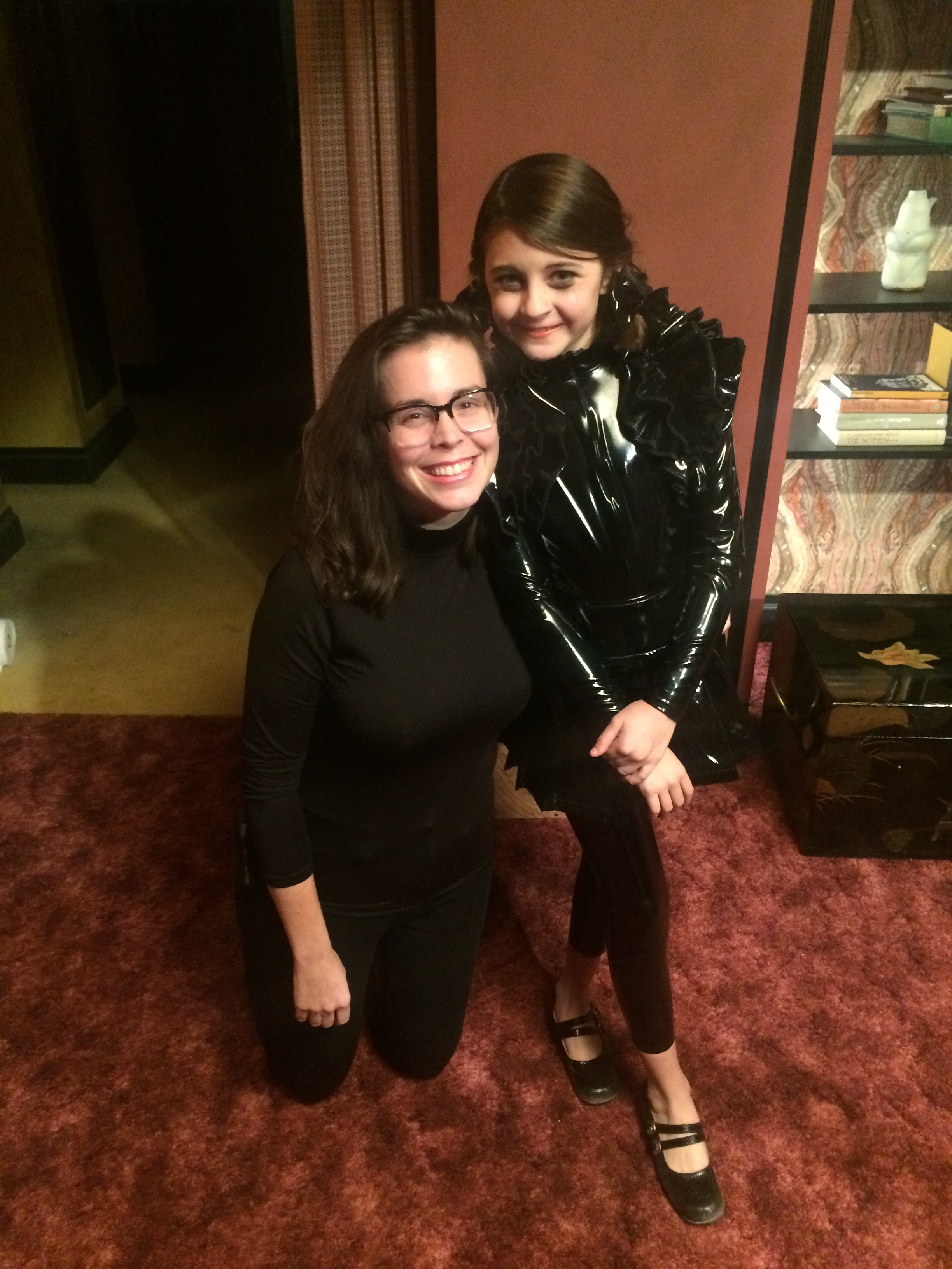 12 - Olivia and I on set in Jackies apartment.jpg