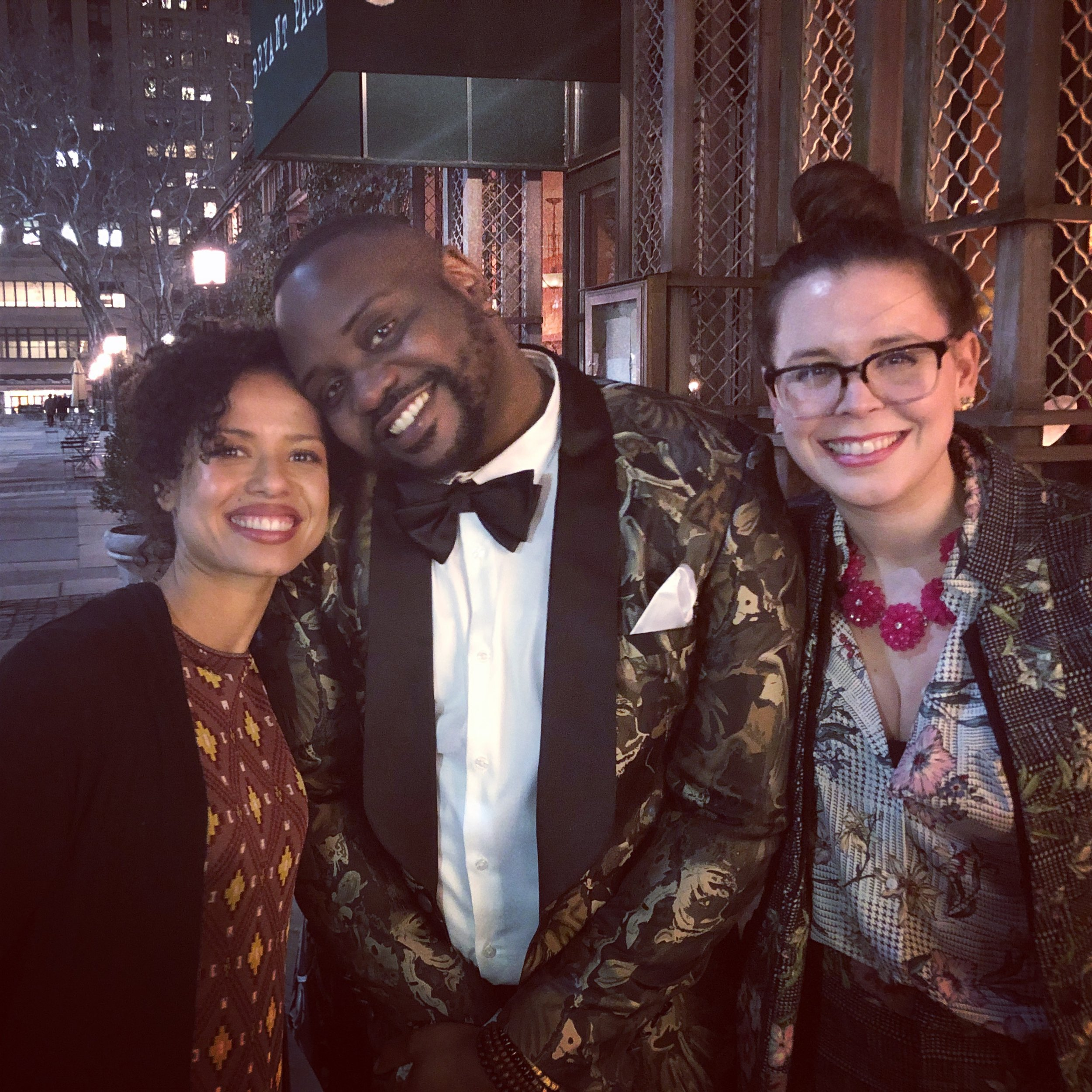 10 - Brian's premiere of Lobby Hero on Broadway early 2018 - Gugu and I were both at the premiere so we had a small Irreplaceable You reunion.jpg